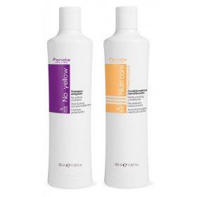 Fanola No Yellow Shampoo + Nutri Care Restructuring Hoitoaine