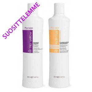Fanola No Yellow Shampoo ja Nutri Care Restructuring hoitoaine