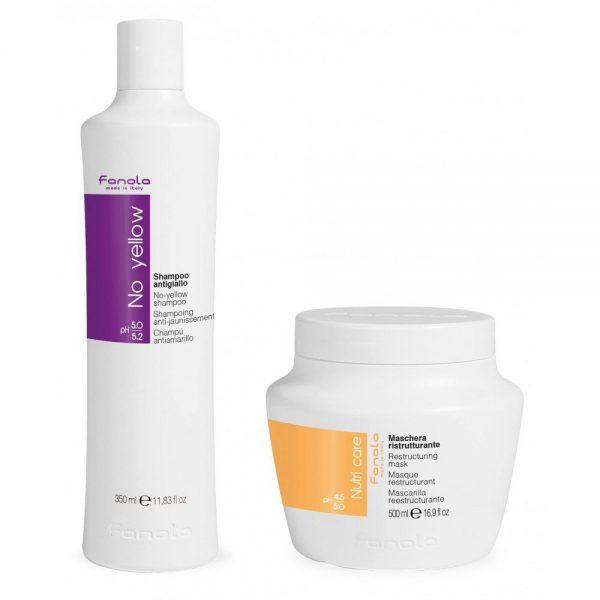 No Yellow Shampoo + Nutri Care Restructuring Mask tehohoito
